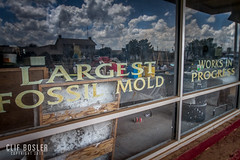 Crosbyton, Texas - 2017 (early days) Tags: westtexas texas crosbyton panhandle museum fossils cocacola brightandearly paintedsign coffeesign us82 canon7d wideangle old vintage mountblancofossilmuseum summer2017 roadtrip smalltown
