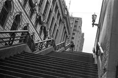#2410 - escadaria (vintequatro10) Tags: street streetphotography streetphotographer streetphoto streetphography streetscape escadas stairs anhangabaú centro cidade city cityscape cityview rua citie pb bw pretoebranco blackandwhite linhas geometria geometry analog analógica pentaxkm pentax pentaxk1000 50mm 50mmf14 film filme filmisnotdead ilford hp5