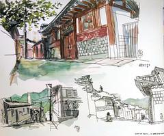 Hanok maeul_Bukcheon, South korea (velt.mathieu) Tags: 한국 하녹 북천 스케치 이럿 croquis sketch southkorea