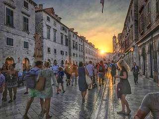 The Sun Setting on a day in Dubrovnik