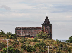 Ancient church on Bokor Hill in Cambodia (phuong.sg@gmail.com) Tags: abandoned antique arch architecture asia basilica bokor brick building cambodia cambodian catholic christian church clouds fog french ghost hill history holiday kampot khmer landmark lonely monument moody mountain national old park phnom preah religion religious ruin rust stone tourism town travel tree vacation weather