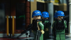 Lego UN Blue Helmet peacekeepers (Force Movies Productions) Tags: war weapons wars lego helmet helmets gear rifles rifle toys toy trooper troop troops youtube army un union custom gun guns minfig officer soldier pose conflict movie cool soldiers world moc photograpgh photo picture photograph animation stopmotion second scene film firearms legophotograghy brickarms bricks brickfilm brickizimo brickmania brick minifig military minifigure minifigs united nation peacekeeper peacekeepers blue