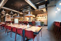 _DSC2060 (fdpdesign) Tags: pizzamaria pizzeria genova viacecchi foce italia italy design nikon d800 d200 furniture shopdesign industrial lampade arredo arredamento legno ferro abete tavoli sedie locali