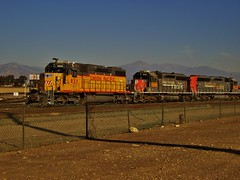 West Colton Throwback (Official$uchainzTV) Tags: unionpacific buildingamerica upy833 up2723 up2761 sd382 sd402m emd emdsd402m emdsd382 standardcab westcoltonca railfanatlas california