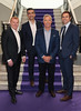 Champion League presenter Tommy Martin with Panel Neil Lennon, Graeme Souness and Kevin Kilbane pictured as TV3 unveiled its programming plans for Autumn 2017 at The National Concert Hall, Dublin. Pictures: Brian McEvoy