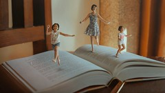 414 Typical Day In II (Katrina Yu) Tags: selfportrait daydream surreal miniature tinypeople motion book bookworm 2017 365project everydays manipulation photoshop cinematic conceptual creative concept artsy art artistic children
