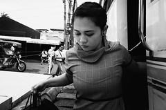 Getting Off The Bus (Meljoe San Diego) Tags: meljoesandiego ricoh ricohgr gr streetphotography street closeup candid monochrome philippines