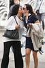 Friends Greet (wyojones) Tags: iceland reykjavik street lavgavegur woman girls ladies greet kiss dress slacks brunette wyojones