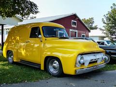 1954 Ford Panel Truck (J Wells S) Tags: 1954fordpaneltruck streetrod hotrod panelvan carbazaarcarshow butlercountyfairgrounds hamilton ohio