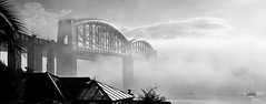 September Morn on The Tamar (jamiegaquinn) Tags: brunel royalalbertbridge rab tamar tamarbridge saltash plymouth rivertamar mist mistymorning