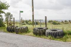 Turnpike Lane (Crusty Streets) Tags: turnpike lane west tilbury thurrock essex england uk tyre tire stile footpath 72
