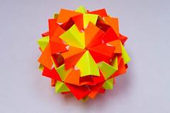 Rocco Kusudama (30 units) (Brian Ritchie) Tags: kusudama mariasinayskaya rocco modular origami