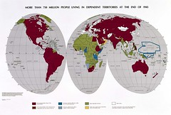 United Nations Territories World Map 1945