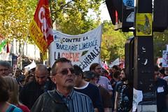 Big march in Paris against president's reforms (Jeanne Menjoulet) Tags: france protest march paris fi labour travail manif manifestation loitravail ordonnances grèvegénérale barbarie libérale demonstration cgt hautegaronne
