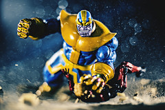 Feel the power of the INFINITY GAUNTLET!!! (3rd-Rate Photography) Tags: adamwarlock thanos marvel marvellegends fight toy toyphotography actionfigure canon 50mm 5dmarkiii jacksonville florida 3rdratephotography earlware marvelselect infinitygauntlet