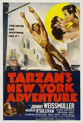 Tarzan's New York Adventure (1942, USA) - 04 (kocojim) Tags: publishing illustrated kocojim johnnysheffield poster johnnyweissmuller maureenosullivan film advertising illustration motionpicture movieposter movie