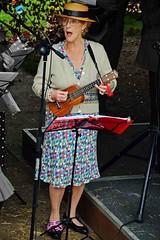 Ukulele player and Singer (nickym6274) Tags: stokebruerne stokebruernevillageatwar2017 ukulele singer