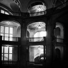 Courthouse with Dark History (karen axelrad (karenaxe)) Tags: skrwt hipstamatic johns blackeyssupergrain triplecrown filterstormneue berlin germany deu