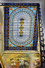 Staircase with stained glass ceiling/roof (gerard eder) Tags: world travel reise viajes europa europe españa spain spanien städte stadtlandschaft city ciudades cityview valencia palace palacio palast stainedglass staircase architecture architektur arquitectura edificio edificios gebäude building