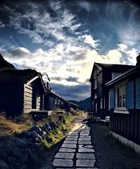 Entering Gjendebu, a mountain hut in Norway