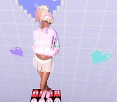 "Let's Play! Cute & Adorable ""Sohye"" Hair By [MONSO] (SherriOhCherri) Tags: monso kustom9 randommatter amitomo gacha rare teefy tsg caywa cmyk kawaiiproject zibska kawaii retro gaming videogames secondlife sl avi slblog secondlifeblog secondlifefashion pastels hair"
