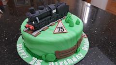 Train cake (Victorious_Sponge) Tags: steam train cake 75th 70th 60th 80th 45337 birthday