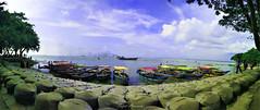 U N T I T L E D (sazidhossainadi) Tags: sky river summer landscapes boat