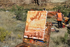 Painting of Nine Mile Canyon (BLMUtah) Tags: blm blmutah bureauoflandmanagement utah ut archaeology history canyon rocks ancient stem learning painting art artifacts handson ninemilecanyon