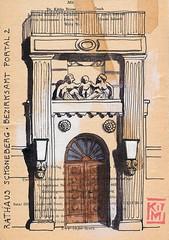 Nebeneingang Rathaus Schöneberg (KatrinMerle) Tags: katrinmerle berlin rathaus schöneberg tür portal door