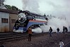 Southern Pacific 4449, Amtrak Transcontinental Steam Excursion.  May 1 1977, Eugene Oregon. (Dan Haneckow) Tags: 1977 sp4449 eugene steamlocomotives