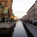 Griboyedov Canal. Near the Church of the Savior on spilled Blood