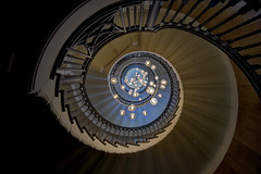 Looking up (Ray Beauchamp) Tags: spiral stairs uk london lights looking up abstract