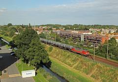 DBC 1611 met trein 61816 (kevinpiket) Tags: dbcargo db 1600 1611 elok elektrischelocomotief rood goederentrein goederenvervoer goederenwagens ketelwagens keteltrein spoorlijn zuge guterzuge train freighttrain dorp nieuwerkerkaandenijssel zuidholland nederland canon 60d