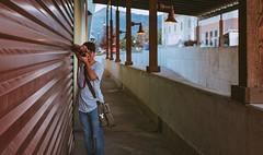 Snap (MatthwJMartin) Tags: portait subject people canon color utah pentax 28mm desaturated urban usa grain parkcity lines