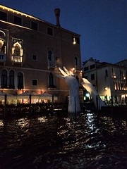 Twilight and monumental hands. - 57th Venice Biannale, Italy (ashabot) Tags: