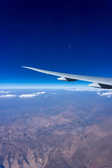 Air Travel (MightyMo89) Tags: plane aircraft sky moon clouds mountains fly flying blue travel