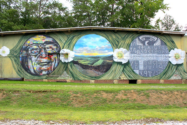 Talking Leaves mural - Summerville, GA