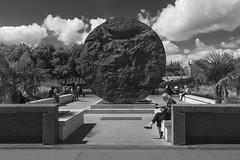 St Thomas' Hospital (Kam Sanghera) Tags: st thomas hospital rear statue mary seacole lambeth south bank nik silver efex bw black white canon mark iii 5d ef 20mm f28 usm street photography london se east se1 ef20mm eos
