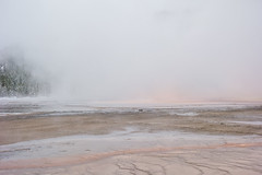 Yellowstone National Park - Winter-18 (hotcommodity) Tags: yellowstonenationalpark winter snow ice frozen grandprismaticsprings hotsprings geothermal nature wilderness mist steam clouds grey spring buffalo bison