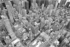 Untitled (Steve Lundqvist) Tags: new york usa states united america manhattan stati uniti travel trip viaggio bw urban city urbanscape ny nyc monochrome nikon downtown building landscape panorama view point monocromo architecture cityscape top empire overlook structure pattern big apple