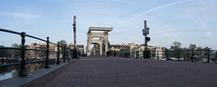 Saturday Self Challenge: Panorama (naturum) Tags: 2017 amstel amsterdam august augustus bridge brug holland magerebrug nederland netherlands panorama saturdayselfchallenge ssc summer zomer noordholland