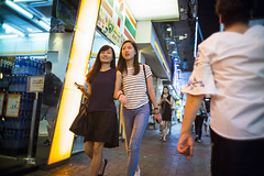 Night out (人間觀察) Tags: leica m240p leicam leicamp f20 f2 hong kong street photography people candid city stranger mp m240 public space walking off finder road travelling trip travel 人 陌生人 街拍 asia girls girl woman 香港 wide open ms optics apoqualiag 28mm apoqualia optical night