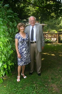 Audrey and Dave are Blackwood volunteers, ready to go to Blackwood for a dinner concert, 2011.