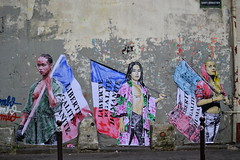 Combo (Ausmoz) Tags: paris street art streetart rue urbain urban mur murs wall walls sticker stickers poster posters collage collages pasteup combo