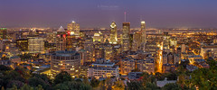 Montreal City, Autumn View (PIERRE LECLERC PHOTO) Tags: montreal city montrealcity urban montroyal mountain cityscape night dusk twilight autumn fall pano panoramic view viewpoint overlook buildings skyscrapers ville modern life lifestyle quebec canada canadian eastcoast street cars traffic travel pierreleclercphotography