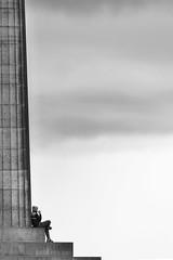 Philosophizing (pepsamu) Tags: architecture arquitectura edimburgo scotland escocia columna column support pilar gregica greek clásico classic escalinata stairs escalera persona pensador filosofía phylosophy filosofando philosophize philosophizing caltonhill nationalmonumentofscotland canon canonistas 60d especular pensar pensamiento thinking blancoynegro bn wb monocromo monochrome monocromático monumento monument national nacional edinburgh