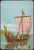 Vikingeskip tegnet av Andreas Bloch (National Library of Norway) Tags: nasjonalbiblioteket nationallibraryofnorway postkort postcards andreasbloch overrekkelseskort kartongkort vikinger vikings vikingskip vikingship
