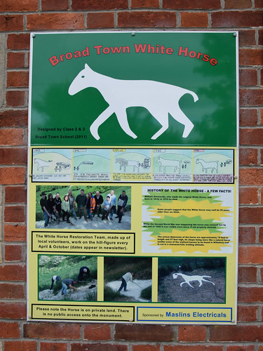 Broad Town White Horse - information panel