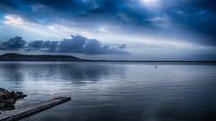 Juste... Bleu ! (Fred&rique) Tags: lumixfz1000 raw étang hérault sète aurore bouzigues eau calme ciel bleu photoshop hdr