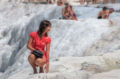 Female Tourist Posing For Photos, Pamukkale, Denizli Province, Aegean Region, Turkey (Feng Wei Photography) Tags: travertinepool aegeanturkey hotspring landscape naturallandmark landmark eastasia turkeymiddleeast female chalkrock famousplace aegean travel denizli outdoors horizontal terrace unescoworldheritagesite cottoncastle scenicsnature nature internationallandmark tourist pamukkale unesco beautyinnature anatolia traveldestinations colorimage turkishculture tourism limestone turkish turkey tr